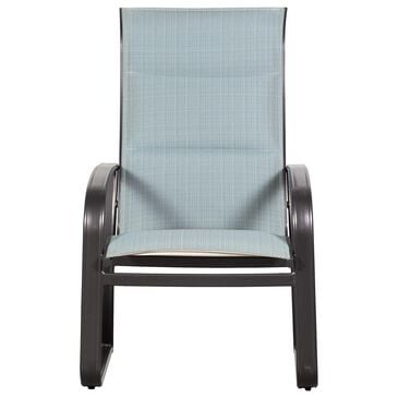Woodard Cayman Isle High Back Dining Arm Chair, , large
