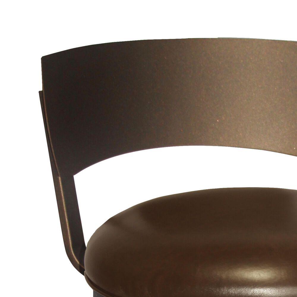 "Delaware Dining Bailey 26"" Swivel Barstool in Sun Bronze/Dark Brown, , large"