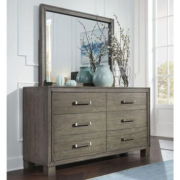 Urban Home William 6 Drawer Dresser and Mirror in Dusty Dawn, , large