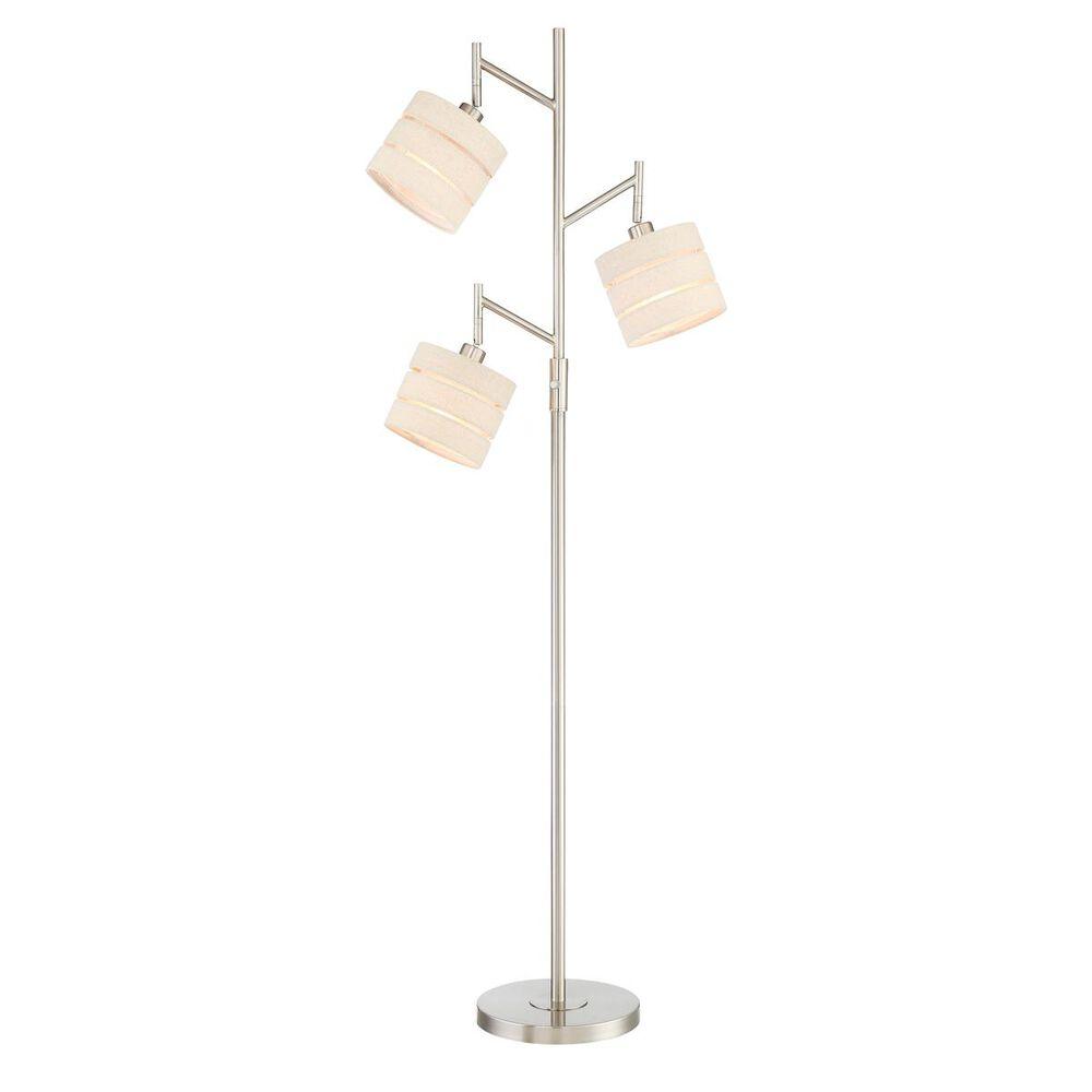 Lite Source 3-Lite Floor Lamp in Nickel, , large