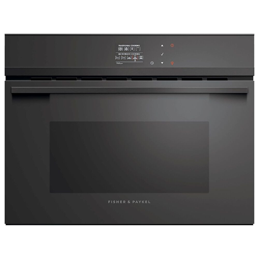 """Fisher and Paykel 24"""" Contemporary Convection Speed Oven in Black, , large"""