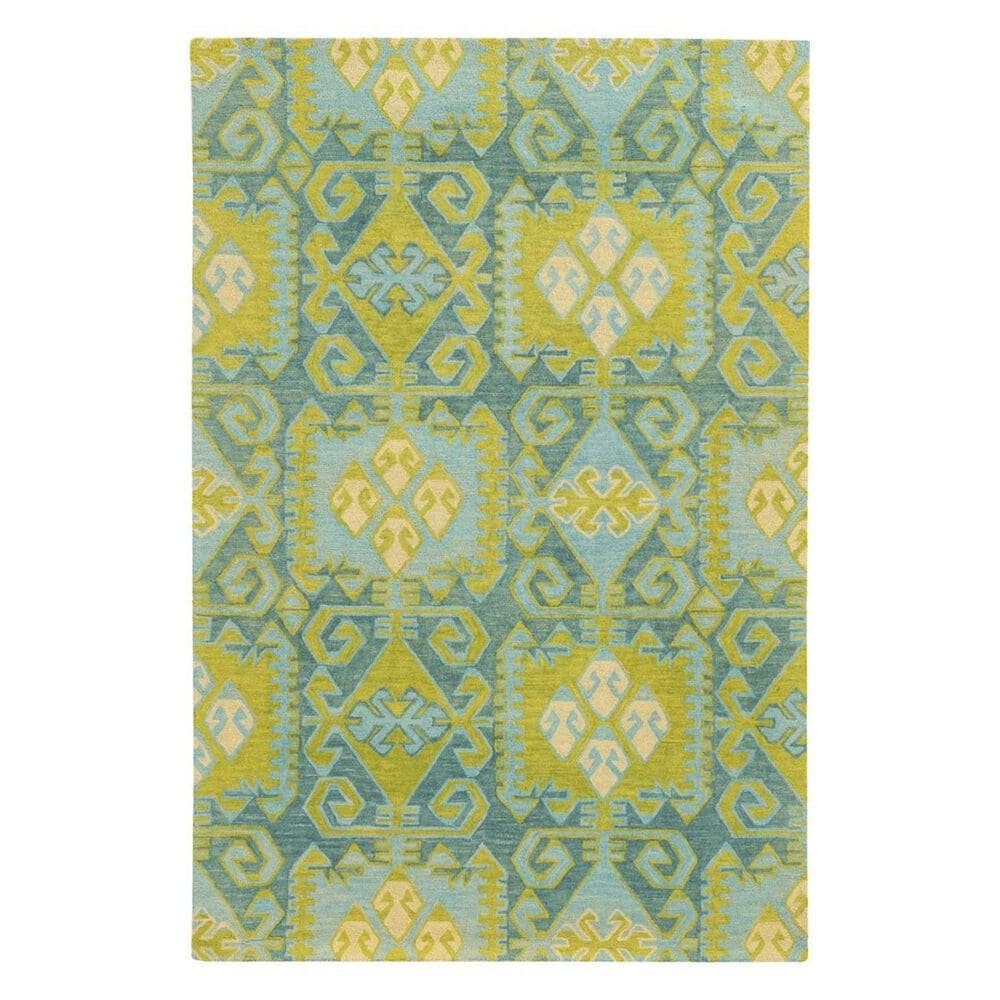 "Oriental Weavers Jamison 53304 3'6"" x 5'6"" Green/Teal Area Rug, , large"