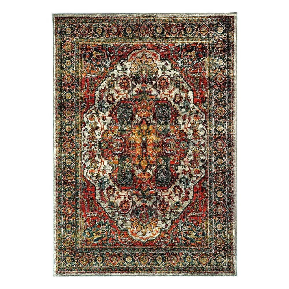 "Oriental Weavers Sedona 6382B 5'3"" x 7'6"" Red Old World Persian Area Rug, , large"