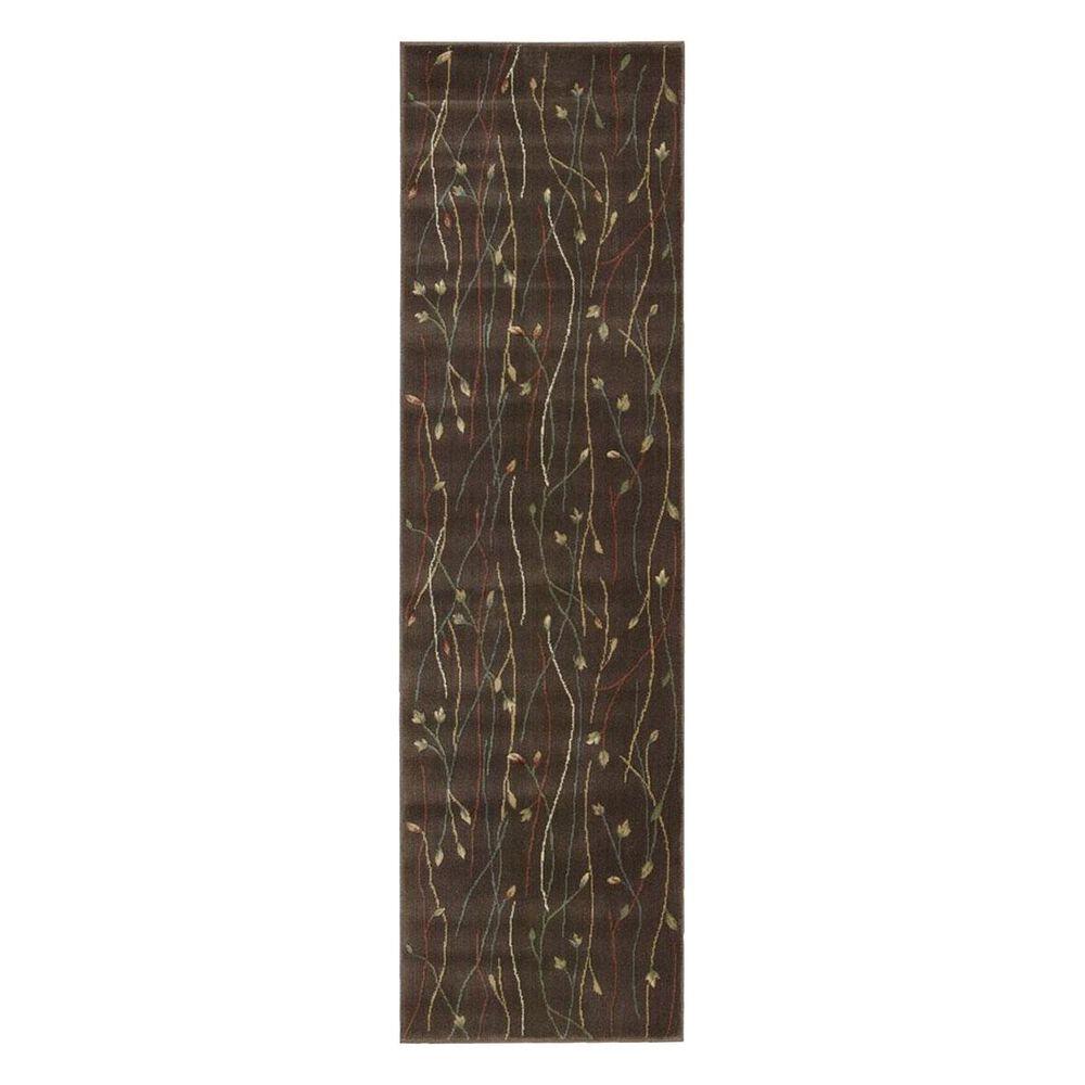 "Nourison Cambridge CG04 2'3"" x 8' Chocolate Runner, , large"