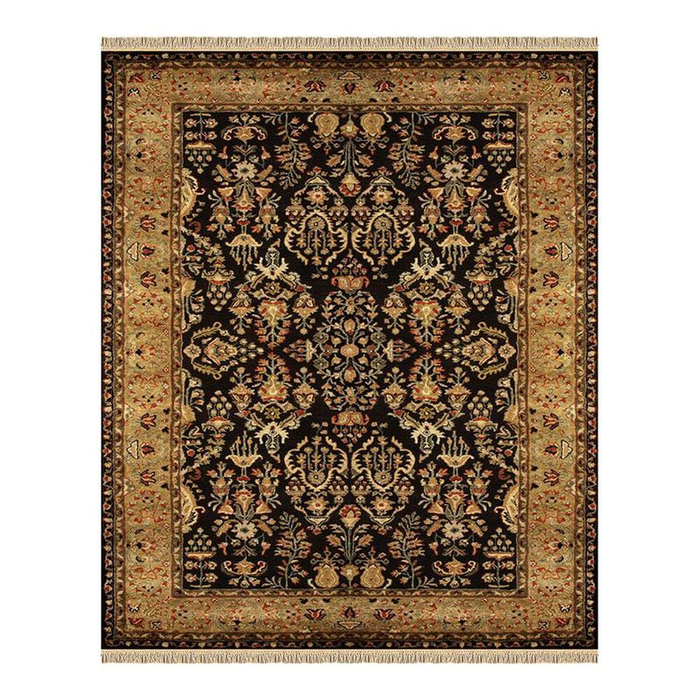 """Feizy Rugs Amore 8327F 2'3"""" x 8' Black/Gold Runner, , large"""