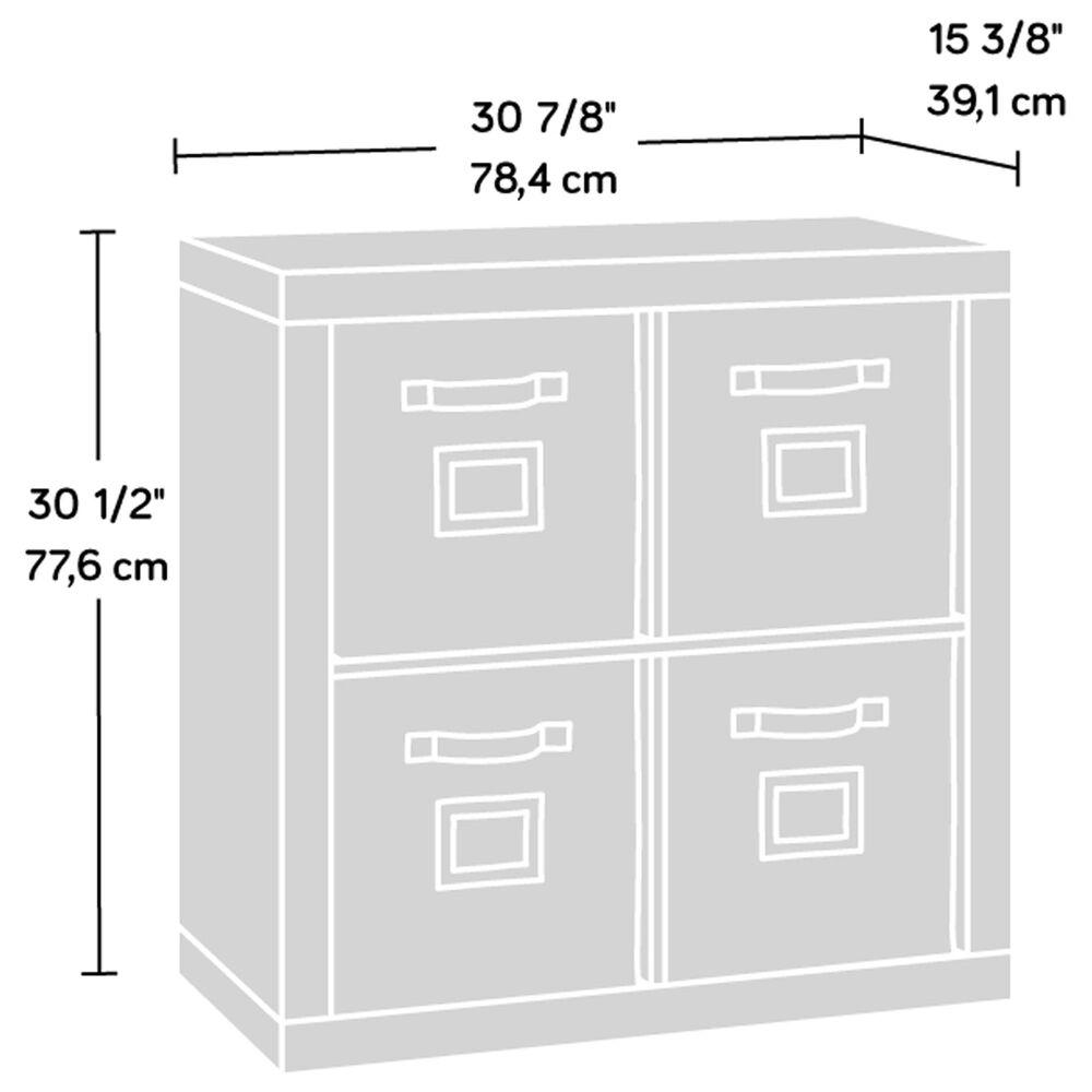 Sauder Stow-Away 4-Cube Organizer in Smoked Oak, , large