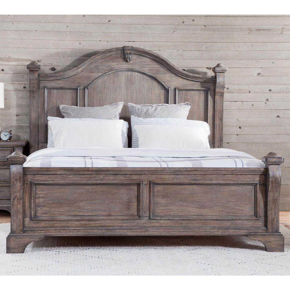 Springmeier Heirloom Queen Poster Bed in Rustic Charcoal, , large