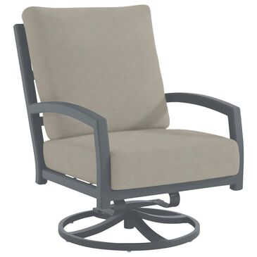 Tropitone Muirlands Swivel Action Lounger with Fife Lunar Cushion in Graphite, , large