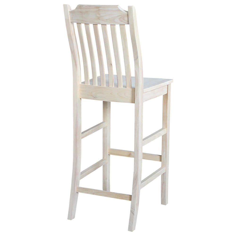 """International Concepts Mission 30"""" Barstool in Unfinished, , large"""