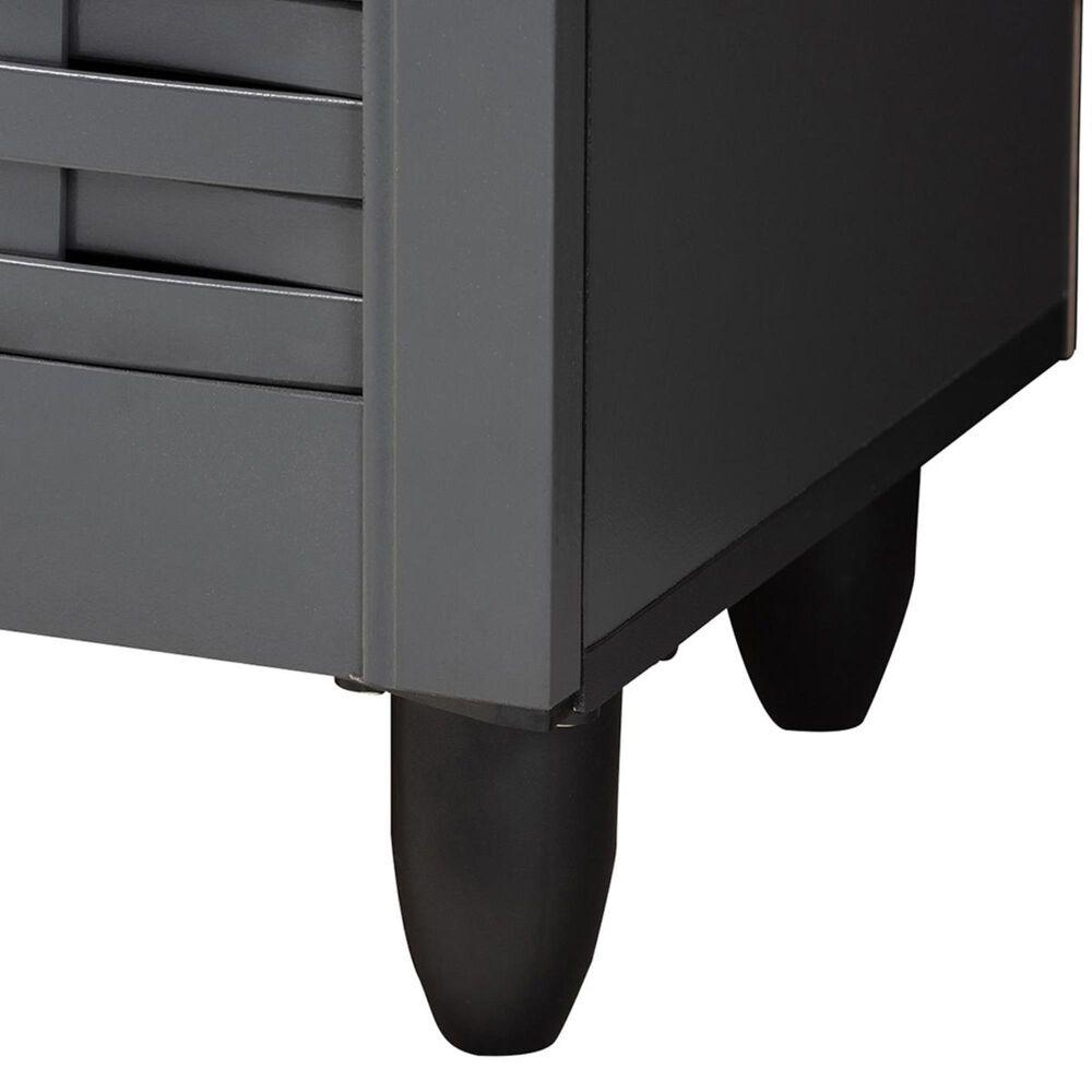Baxton Studio Winda 4-Door Entryway Shoe Storage Cabinet in Dark Gray, , large