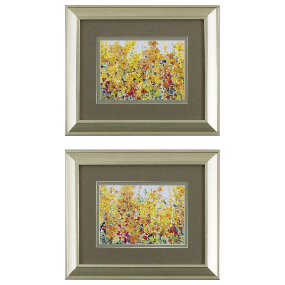 "Propac ""Golden Summer Garden"" Wall Art in Orange (Set of 2), , large"