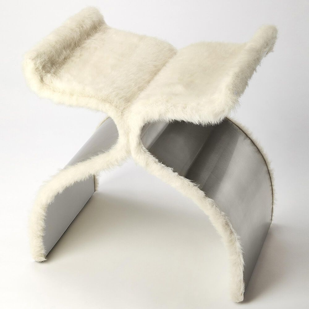 Butler Chalice Stool in Off White, , large