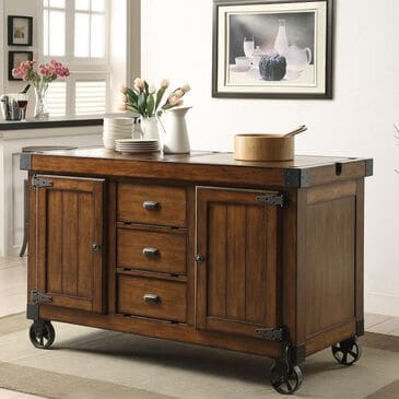 Gunnison Co. Kabili Kitchen Cart in Antique Tobacco, , large