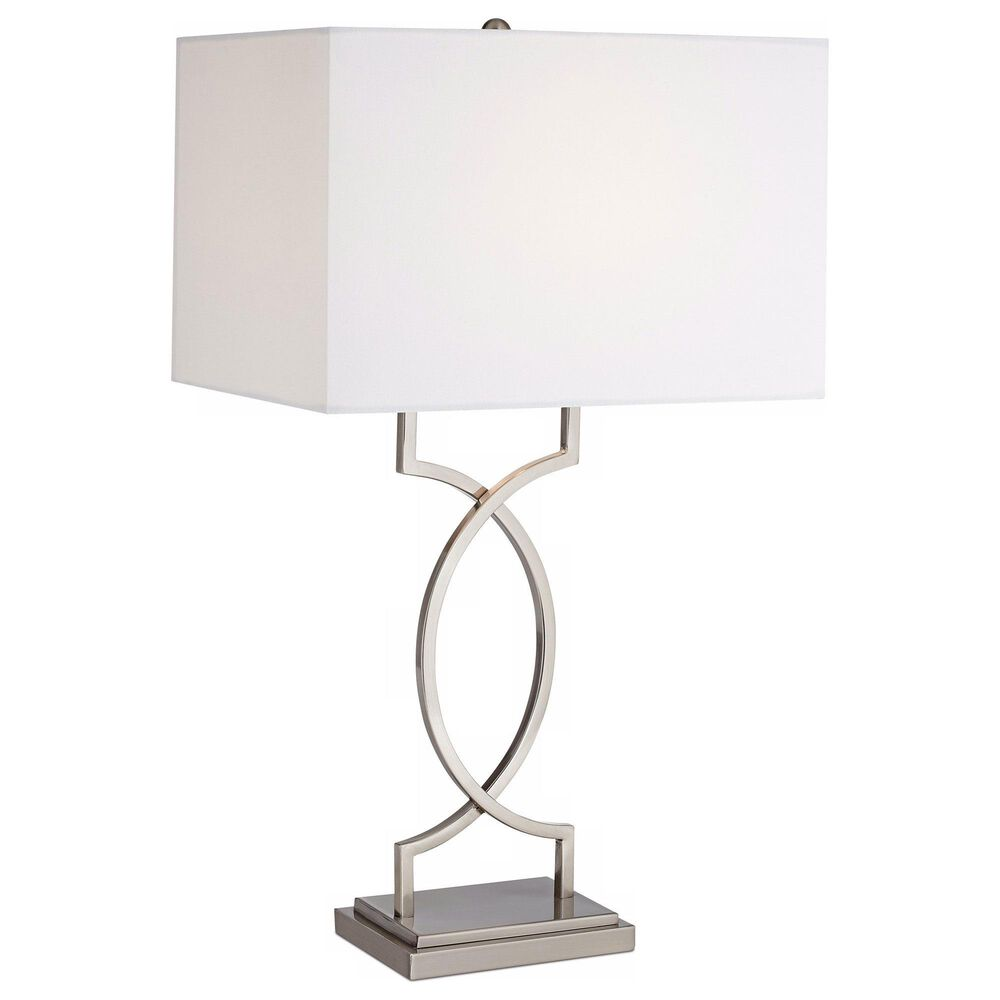 Pacific Coast Lighting Modern Rome Table Lamp in Brushed Nickel and Brushed Steel, , large