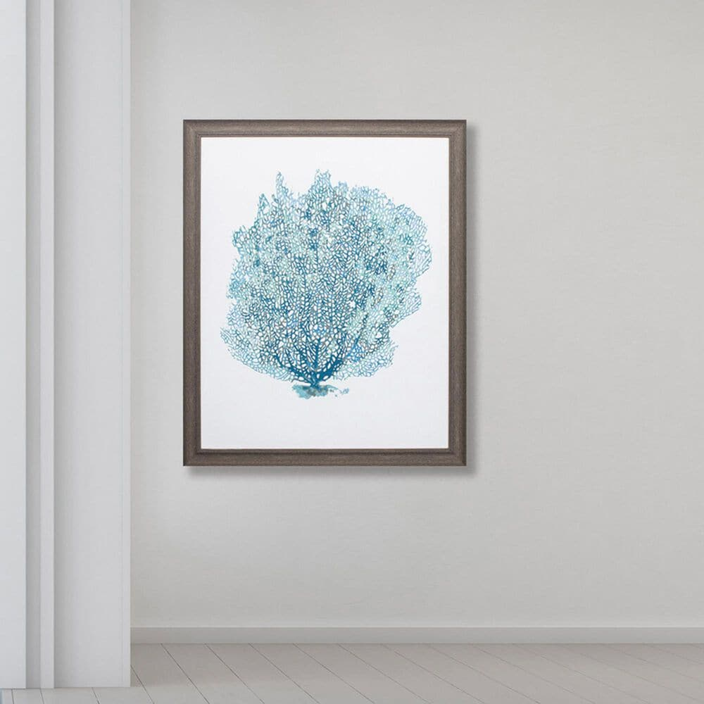 "Propac ""Aqua Coral on White II"" Wall Art in Teal, , large"
