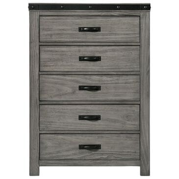 Mayberry Hill Wade 5 Drawer Chest in Brushed Ash, , large