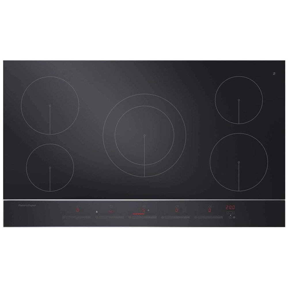 """Fisher and Paykel 36"""" 5 Zone Induction Cooktop in Ceramic Glass With Stainless Steel Trim , , large"""