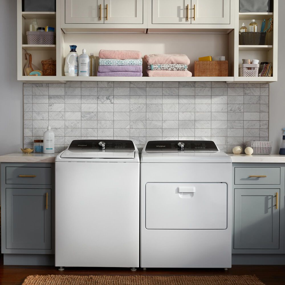 Whirlpool 4.6 Cu. Ft. Front Load Washer and 7 Cu. Ft. Gas Dryer Laundry Pair in White, , large