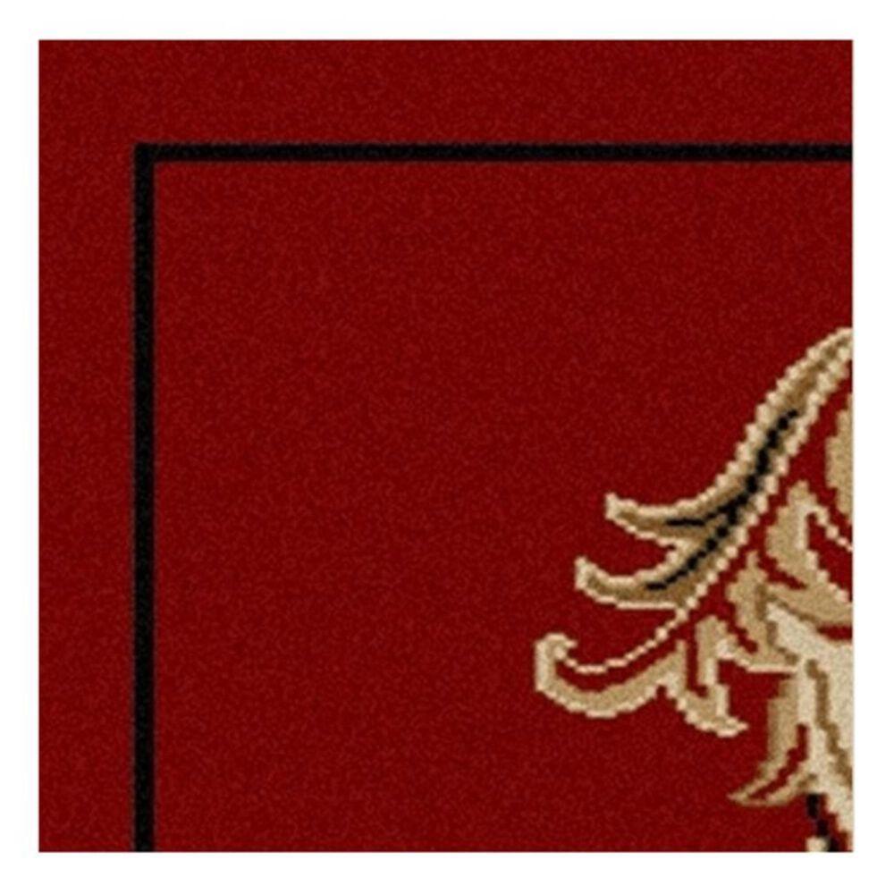 "Radici USA Bergamo 1835  3'3"" X  4'11"" Red Area Rug, , large"