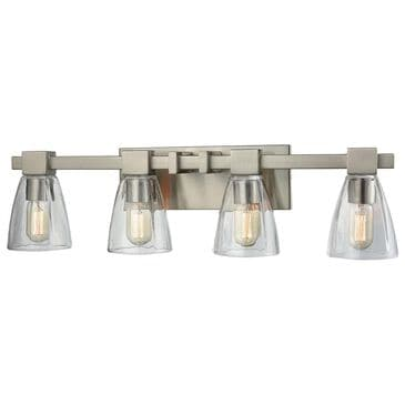 Stein World Ensley 4-Light Vanity In Satin Nickel With Clear Glass, , large