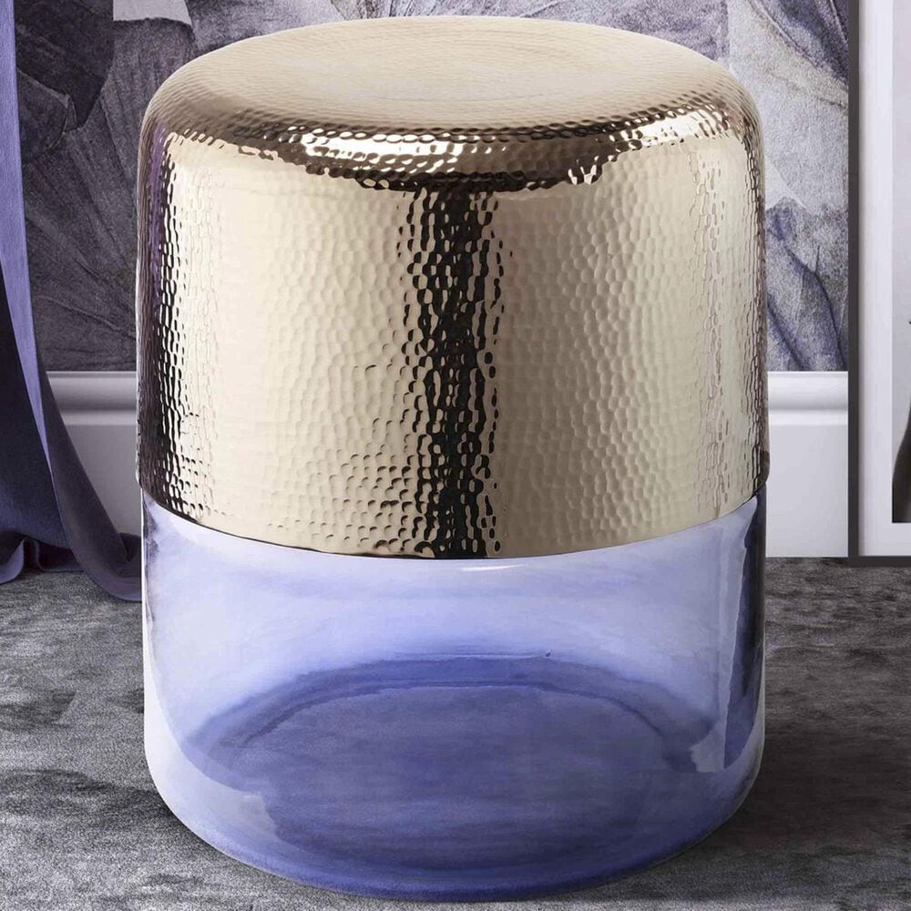 Tov Furniture Kolla Side Table in Gold and Purple, , large