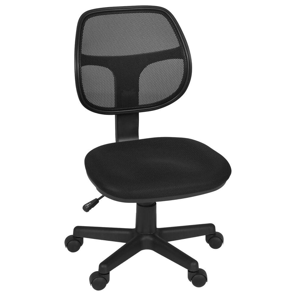 Regency Global Sourcing Carter Swivel Chair in Black, , large