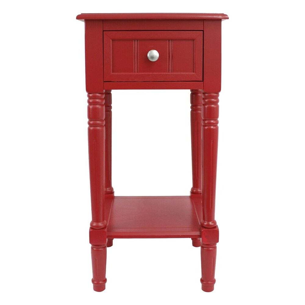 Decor Therapy 1-Drawer Accent Table in Red, , large