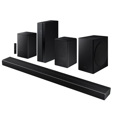 Samsung 5.1 Channel Soundbar and Wireless Rear Speakers Kit Home Theater System in Black, , large