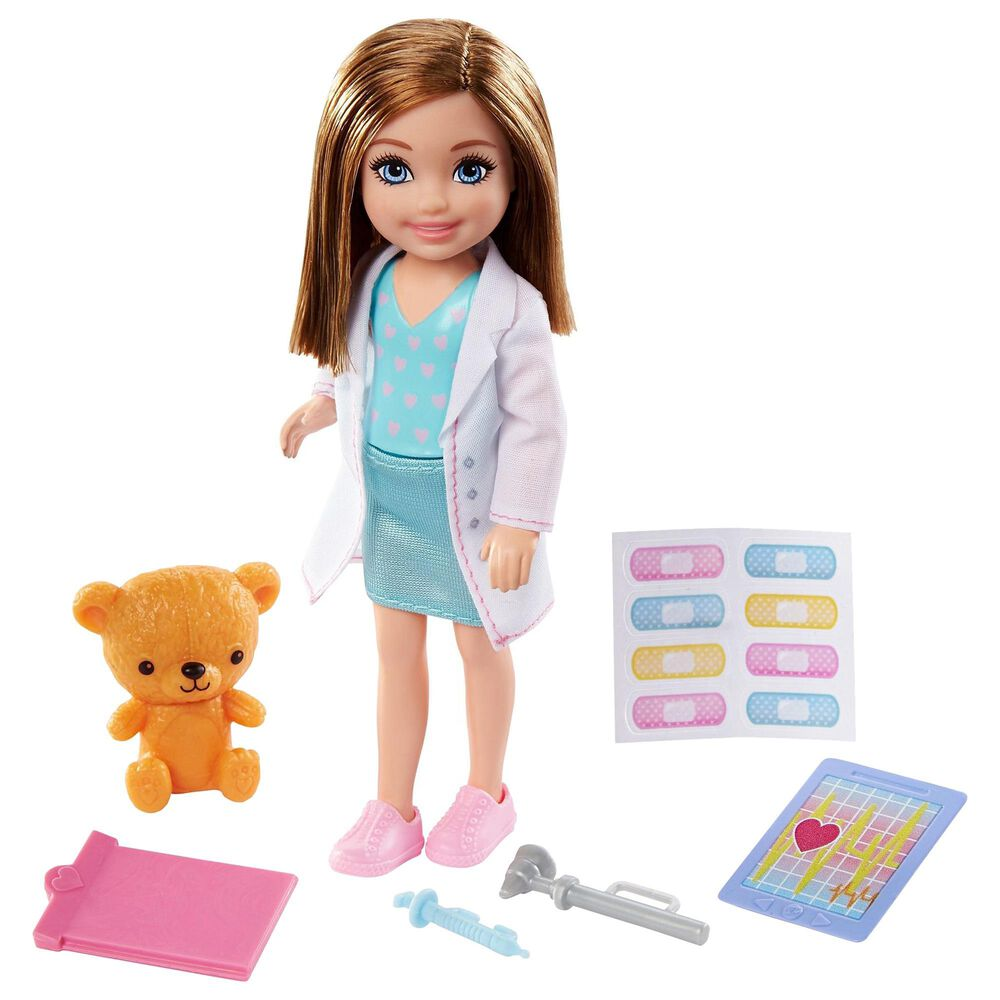 Barbie Chelsea Can Be Career Doll with Doctor Doll and Related Accessories, , large