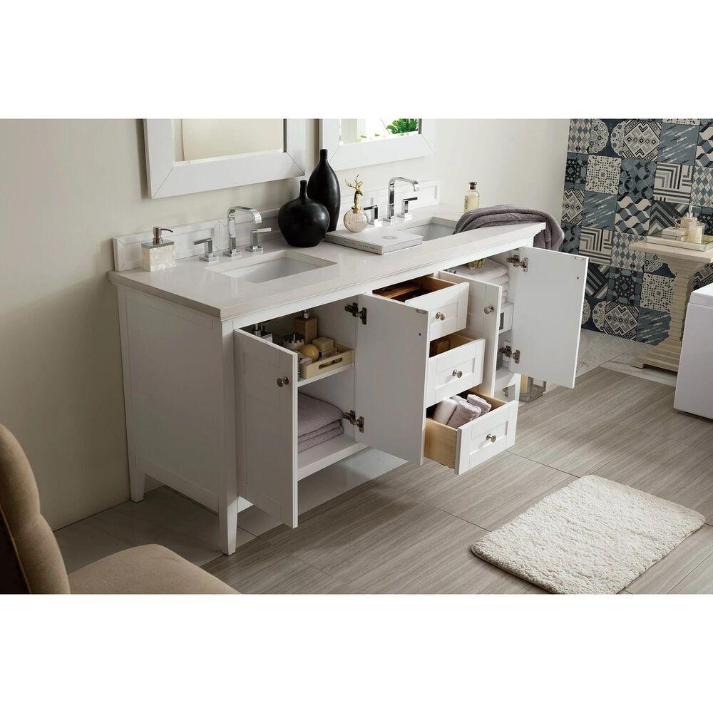 "James Martin Palisades 72"" Double Vanity Cabinet in Bright White, , large"