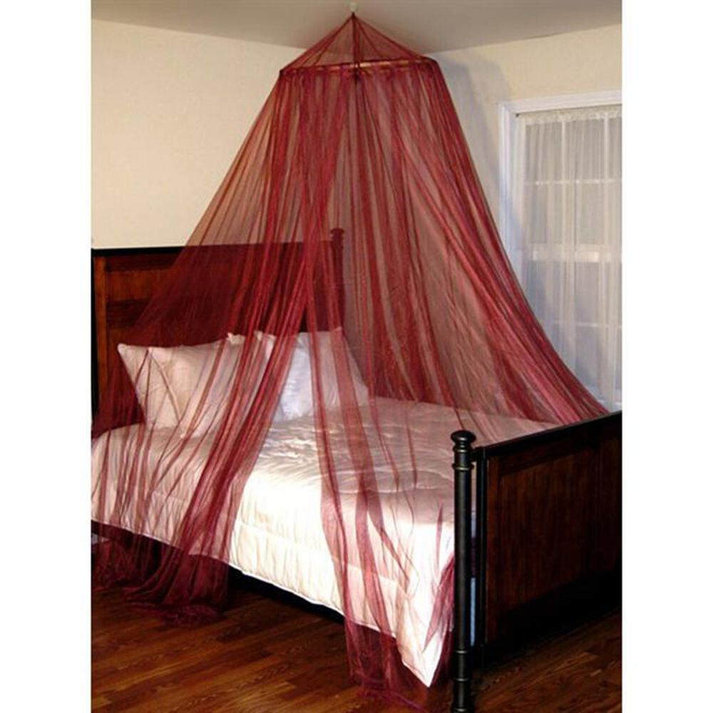 Epoch Hometex Oasis Round Bed Canopy in Burgundy, , large