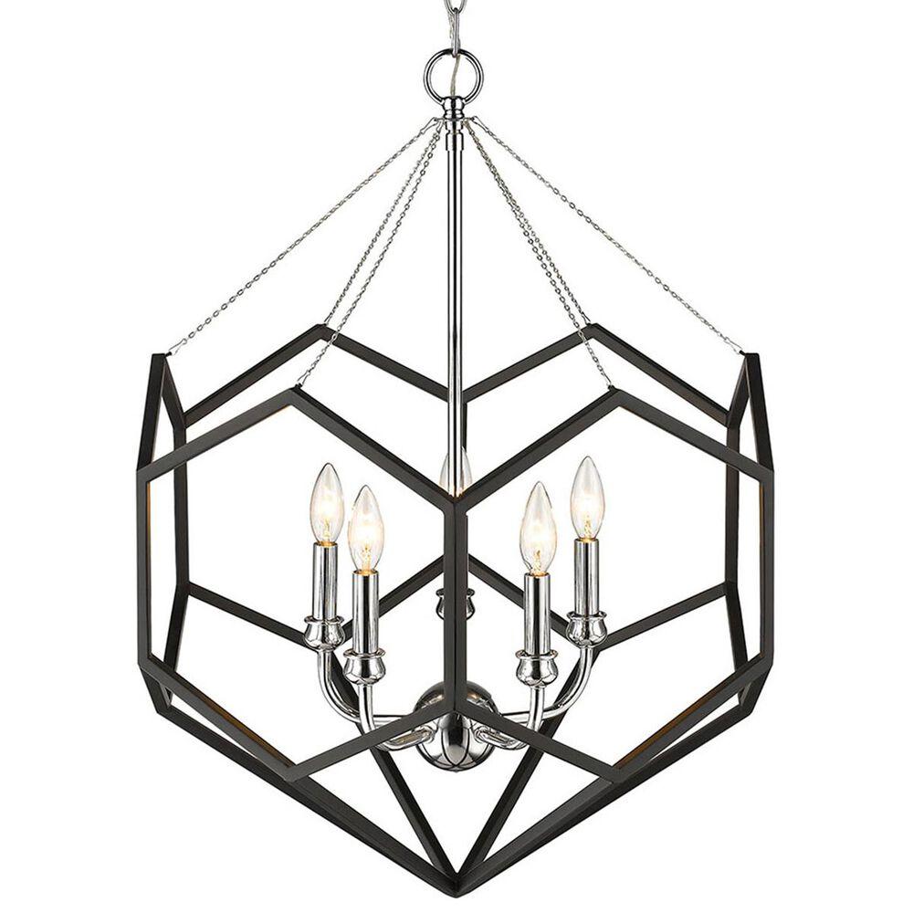 Golden Lighting Damina 5-Light Chandelier in Chrome, , large