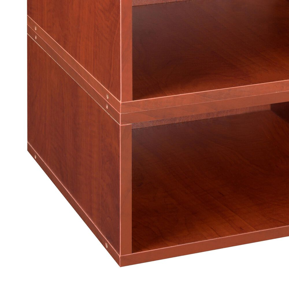 Regency Global Sourcing Niche Cubo 2-Piece Storage Cube Set in Warm Cherry, , large