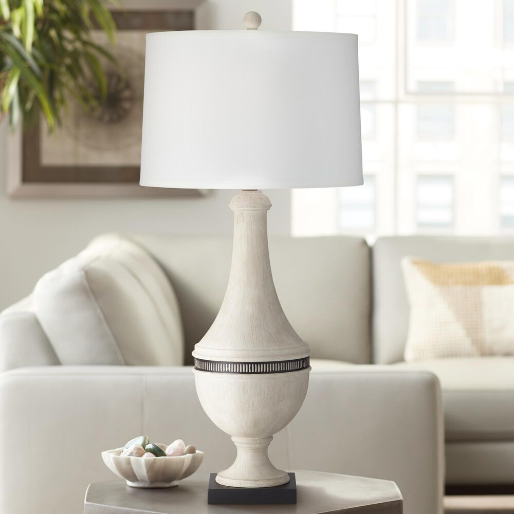 Pacific Coast Lighting Homer Table Lamp in White Wash, , large