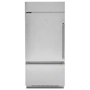 Cafe 21.3 Cu. Ft. Built-In Bottom Freezer Refrigerator with Left Hinge in Stainless Steel and Brushed Stainless, , large