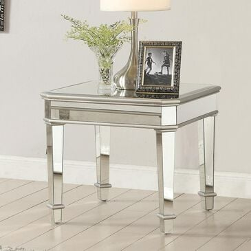Pacific Landing Square End Table in Silver, , large