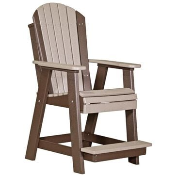Amish Orchard Balcony Adirondack Chair in Weatherwood and Chestnut, , large