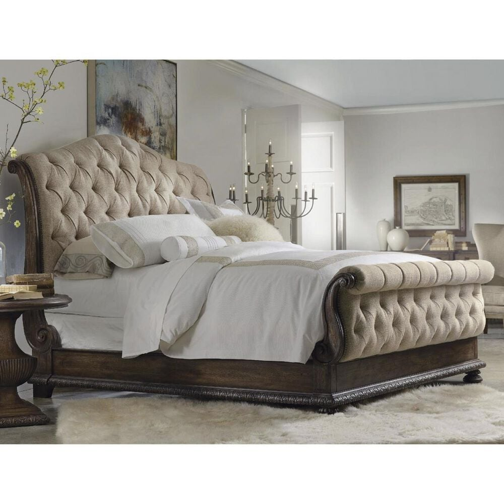 Hooker Furniture Rhapsody California King Upholstered Bed in Reclaimed Natural, , large