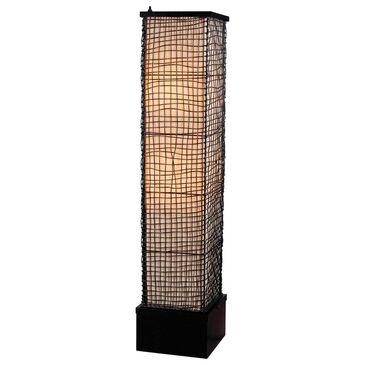 Kenroy Trellis Outdoor Floor Lamp in Black, , large