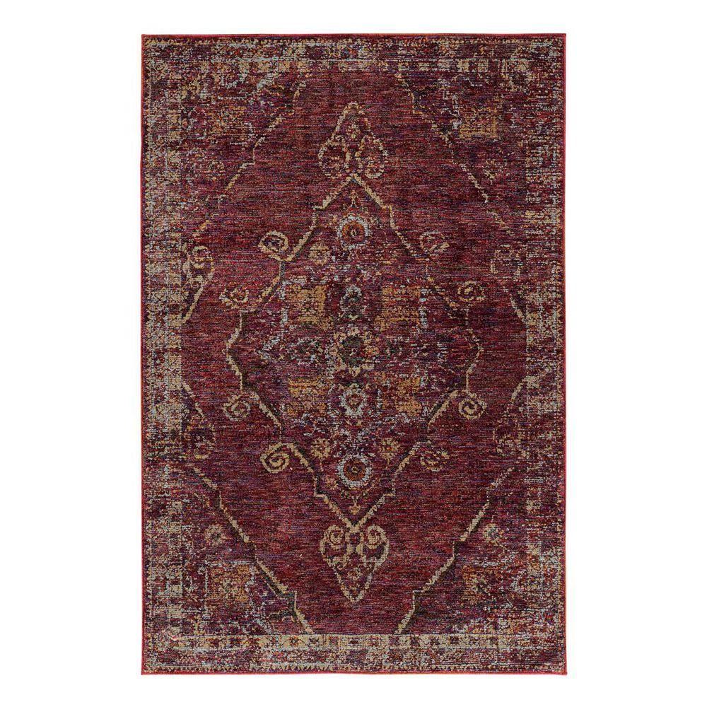 "Oriental Weavers Andorra 7135E 6'7"" x 9'6"" Red Area Rug, , large"