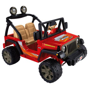 Power Wheels Jeep Wrangler in Red, , large