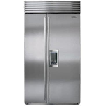 """Sub Zero 42"""" Stainless Steel Built-In Side-By-Side Refrigerator, , large"""