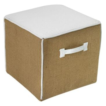 Go Home MH Ottoman in White, , large