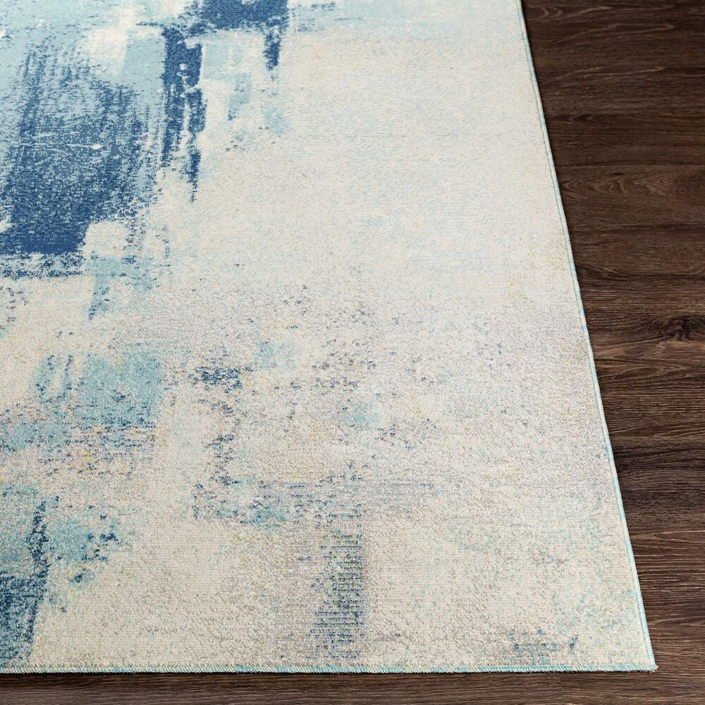 "Surya Bodrum 7'10"" x 10' Ivory, Gray, Navy and Aqua Area Rug, , large"