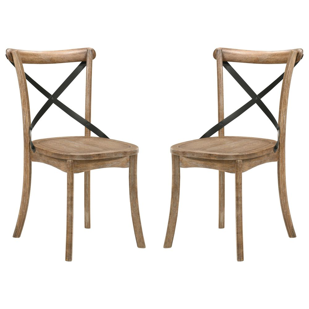 Gunnison Co. Kendric Side Chair in Rustic Oak (Set of 2), , large