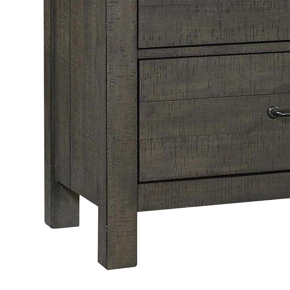 Riva Ridge Mill Creek 5 Piece King Low Profile Bed Set with 2-Drawer Nightstand in Carob, , large