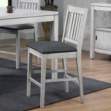 Radius Summer Winds Counter Height Stool in White-Gray, , large