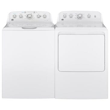 GE Appliances 4.5 Cu. Ft. Top Load Washer and 7.2 Cu. Ft. Electric Dryer in White, , large