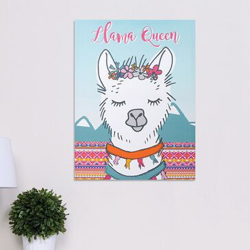 Trend Labs Llama Queen Canvas Wall Art in White, , large