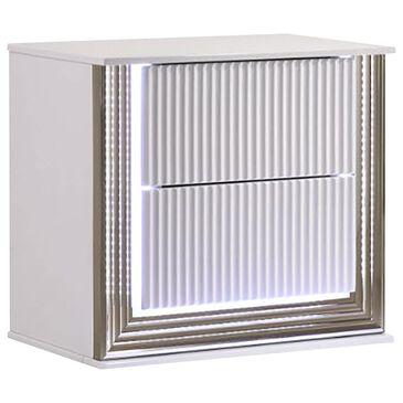 Global Furniture USA Aspen 2-Drawer LED Nightstand in White Gloss, , large
